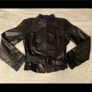 Mossimo Belted leather jacket